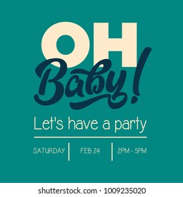 Oh Baby Shower Invitation Greeting Card