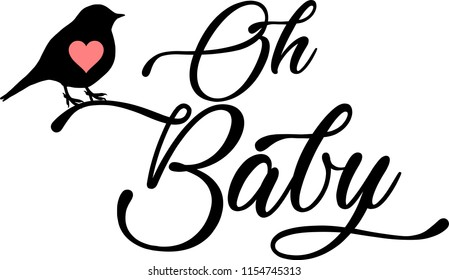 Oh baby vector cut file