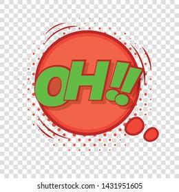 Oh, comic speech bubble icon. Pop art illustration of Oh, comic speech bubble vector icon for web