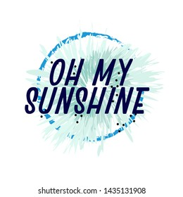 oh my sunshine, beautiful greeting card background or banner with frozen theme. design illustration