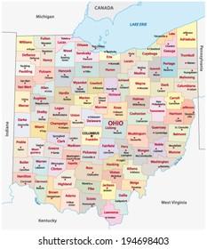 ohio administrative map