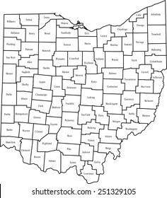 Ohio County Map Images, Stock Photos & Vectors | Shutterstock