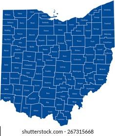 Ohio Map Images Stock Photos Vectors Shutterstock