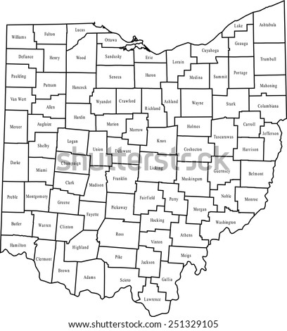 Free Ohio Map.Ohio Map Stock Vector Royalty Free 251329105 Shutterstock