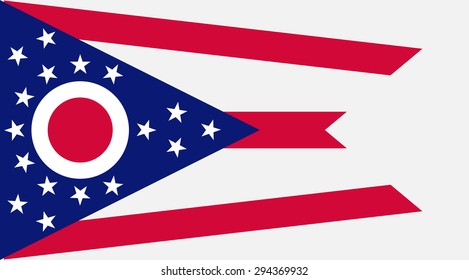 Ohio state national flag. Vector EPS8