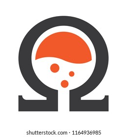 Ohm Coil Lab Extract logo icon vector