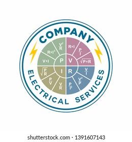 OHM Wheel Chair Logo, Electrical Logo