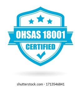 Ohsas 18001 vector emblem on white background