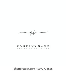 OI Initial luxury handwriting logo vector