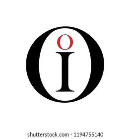 oi letter vector logo