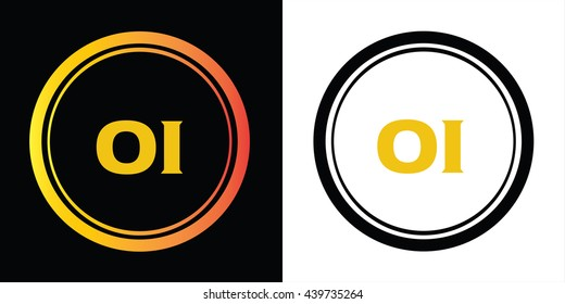 jo letters icon design template elements stock vector royalty free