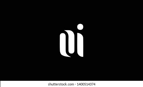 OI logo design template vector illustration minimal design