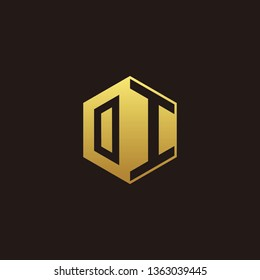 OI Logo Monogram with Negative space gold colors