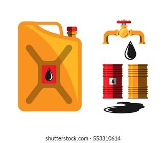 Oil barrel capacity crane vector.