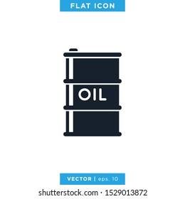 Oil Barrel Icon Vector Design Template