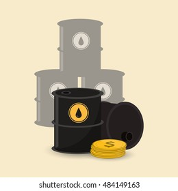 oil barrel with petroleum related icons image