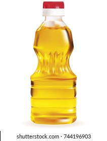Oil bottle isolated on a over white background.EPS-10