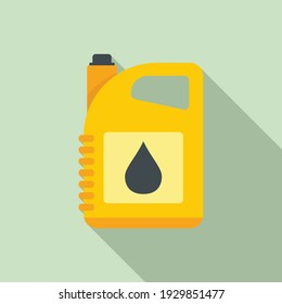 Oil canister icon. Flat illustration of oil canister vector icon for web design