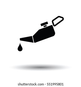 Oil canister icon. White background with shadow design. Vector illustration.