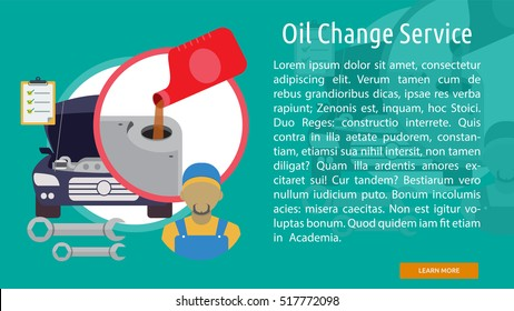 Oil Change Service Conceptual Banner