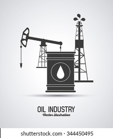 Oil concept with industry icons design, vector illustration 10 eps graphic.