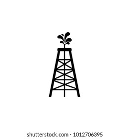 oil derrick icon. Oil an gas icon elements. Premium quality graphic design icon. Simple icon for websites, web design, mobile app, info graphics on white background
