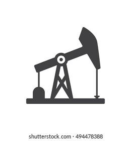 oil derrick icon on white background