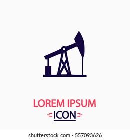 Oil derrick Icon Vector. Flat simple pictogram on white background. Illustration symbol