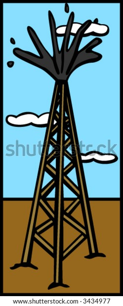 oil drilling tower