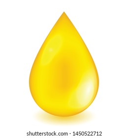 Oil drop or honey isolated on white background as industrial or healthy food concept. vector illustration.