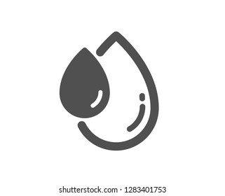 Oil drop icon. Hair care serum sign. Quality design element. Classic style icon. Vector