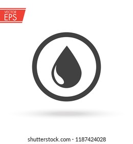 Oil drop icon. Petroleum sign. Fuel and gas icon. Energy industry symbol. Diesel drop label. Refinery mark. Oil storage emblem. Attantion and warning liquid pollution emblem.