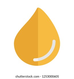 Oil drop isolated. Icon of drop of oil or honey, EPS 10