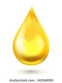 Oil drop isolated on white background. Vector illustration