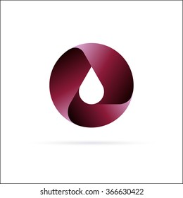 Oil drop logo  template. Abstract Symbol design