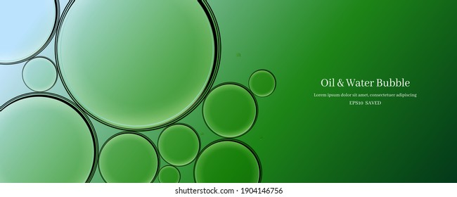 oil drops on a water surface abstract background.
