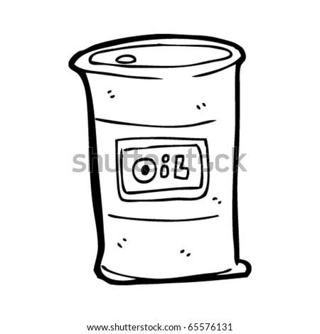 Oil Drum Cartoon Stock Vector Royalty Free 65576131
