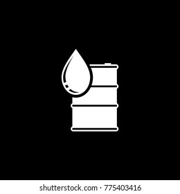 Oil drum vector icon