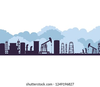 oil excavation drill industry scene