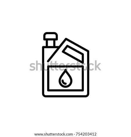 Oil Gallon Icon Vector Stock Vector Royalty Free 754203412