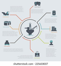 oil and gas industry infographic set  vector illustration oil Platform