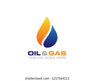 Oil And Gas Logo Design Vector Template
