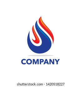 Oil and gas logo template vector illustration
