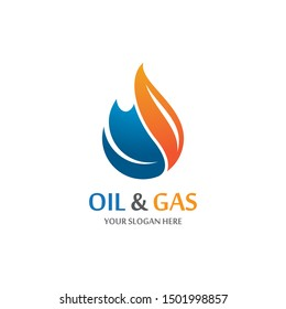 Oil and gas symbol vector icon