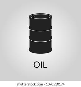 Oil icon. Oil symbol. Flat design. Stock - Vector illustration