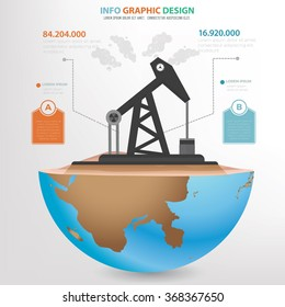 Oil Industry concept design,info graphic,clean vector