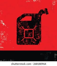 Oil industry design on red background,grunge vector