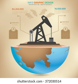 Oil industry design,infographic concept,vector
