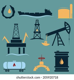 oil industry icons set,flat design