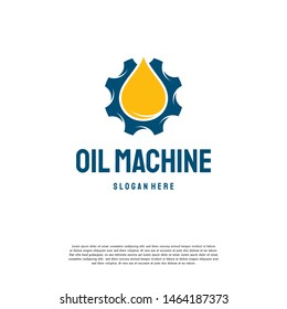Oil Industry logo designs concept vector, Oil Gear Machine logo template symbol
